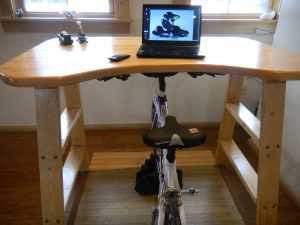 Bicycle Exercise Desk