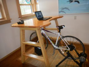 Bicycle Desk Doubles as Standing Desk