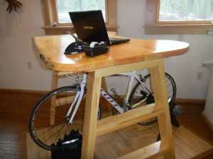 Wood Bicycle Desk
