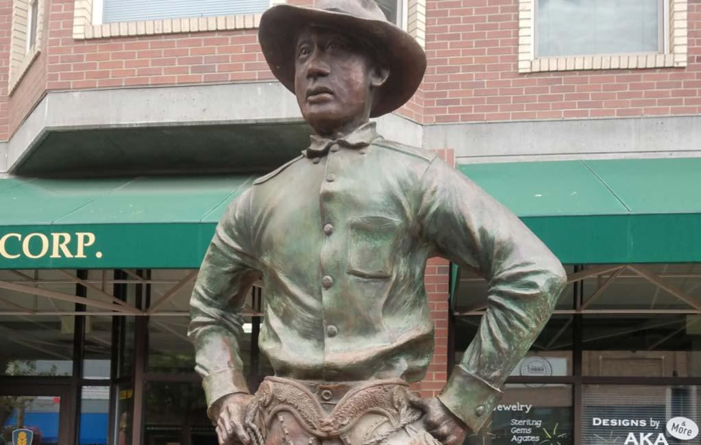 """Colored Cowboy"" George Fletcher Statue in Pendleton, Oregon"