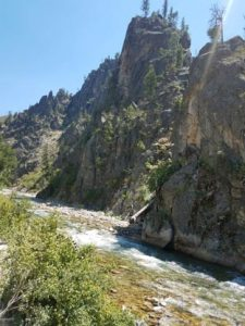 Bike Riding Along the River in Idaho