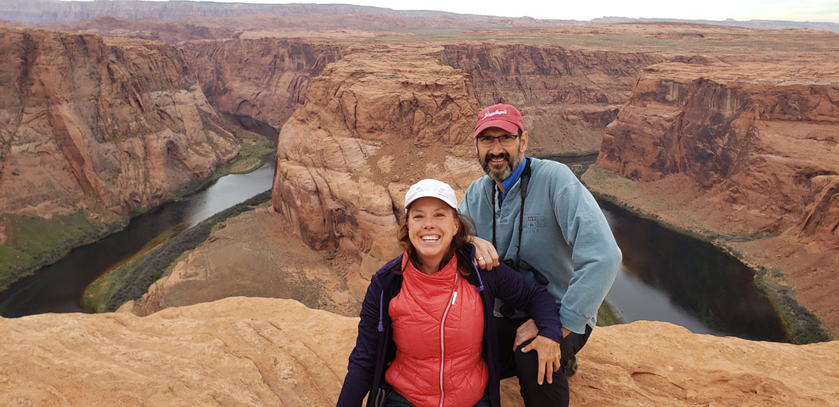 Jeri and Ray at Horseshoe Bend
